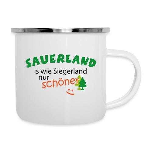 Sauerland ist wie Siegerland, nur schöner - Emaille-Tasse