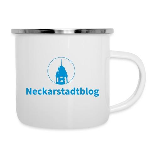 Neckarstadtblog – Logo und Schriftzug - Emaille-Tasse