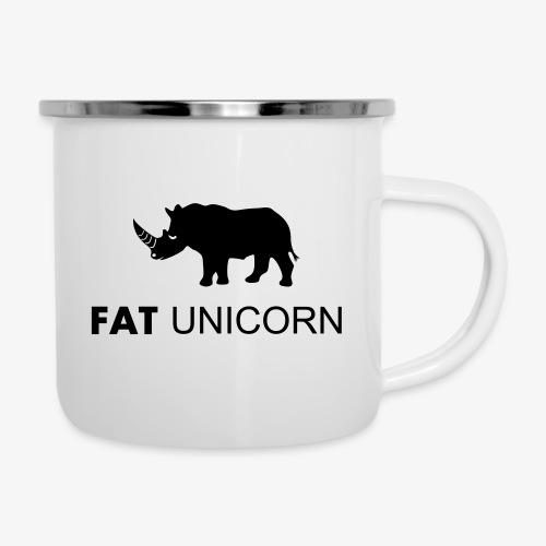 Fat Unicorn - Emaille-Tasse