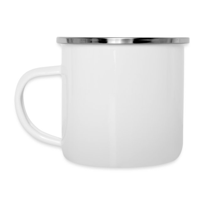 simple woman horse dog - Emaille-Tasse