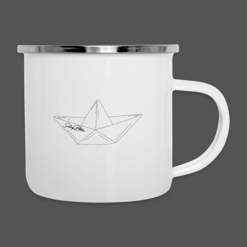 Papierboot Sailing Benko Papierschiff Faltboot - Emaille-Tasse