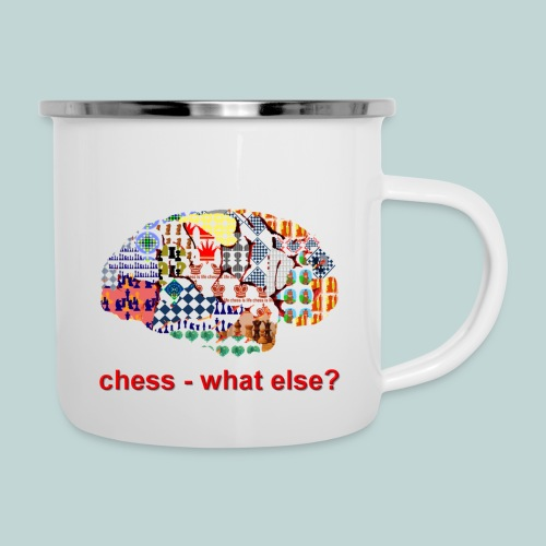 chess_what_else - Emaille-Tasse