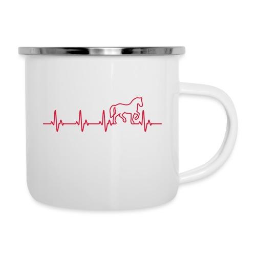 Vorschau: Horse Heartbeat - Emaille-Tasse