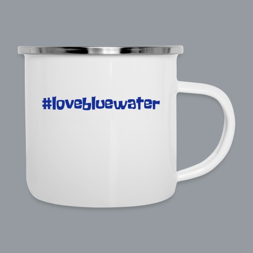 #lovebluewater - Emaille-Tasse
