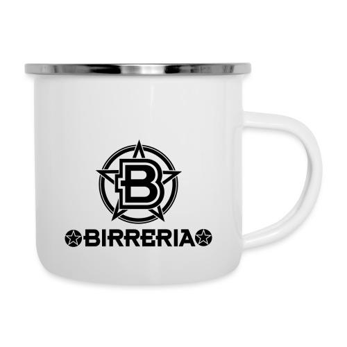 Logo Birreria 2021 Black - Emaille-Tasse