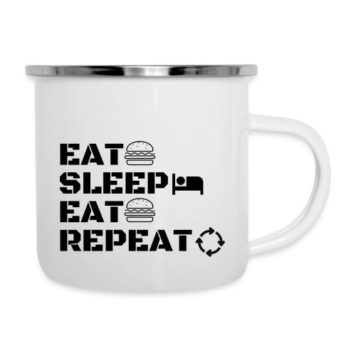 eat sleep eat repeat - Tasse émaillée