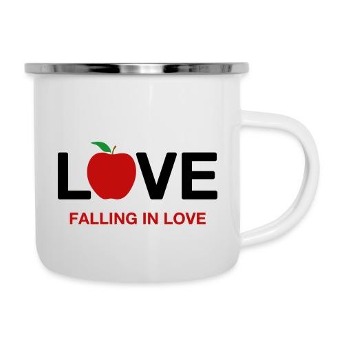 Falling in Love - Black - Camper Mug