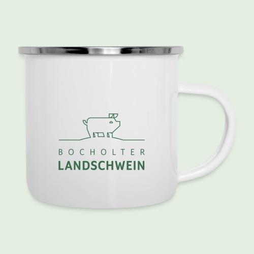 Bocholter Landschwein pur - Emaille-Tasse