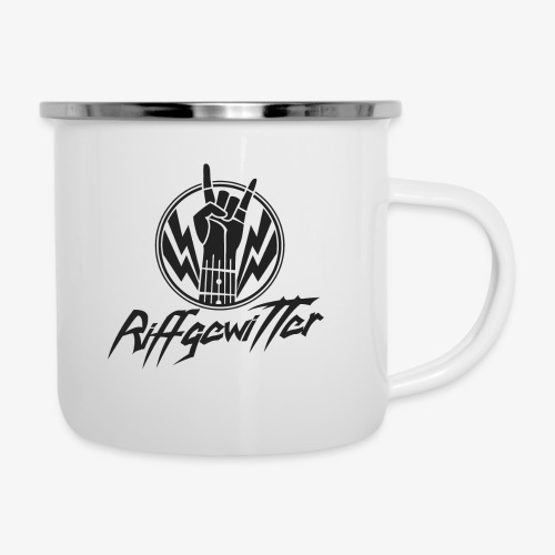 Riffgewitter - Hard Rock und Heavy Metal - Emaille-Tasse