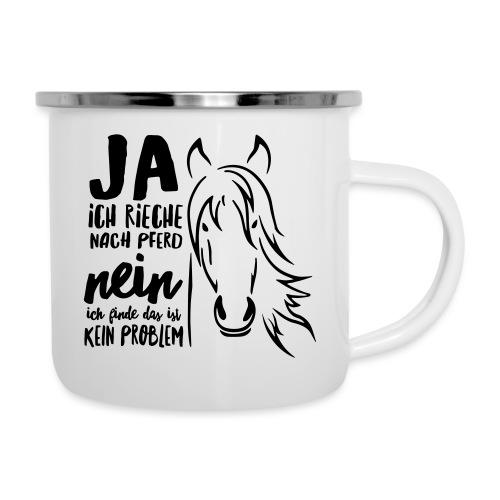 Vorschau: ja ich rieche nach Pferd - Emaille-Tasse