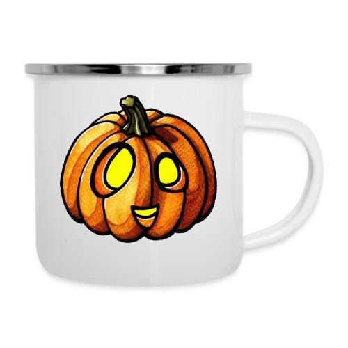 Pumpkin Halloween watercolor scribblesirii - Emaille-Tasse