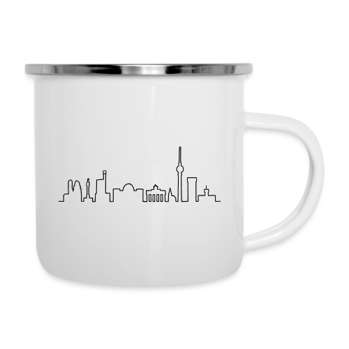 Skyline Berlin - Emaille-Tasse