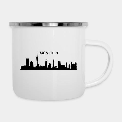 München Skyline - Emaille-Tasse