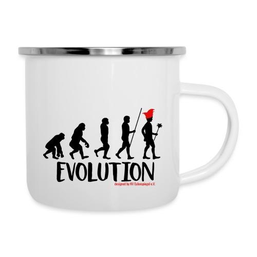 Die Evolution - Emaille-Tasse