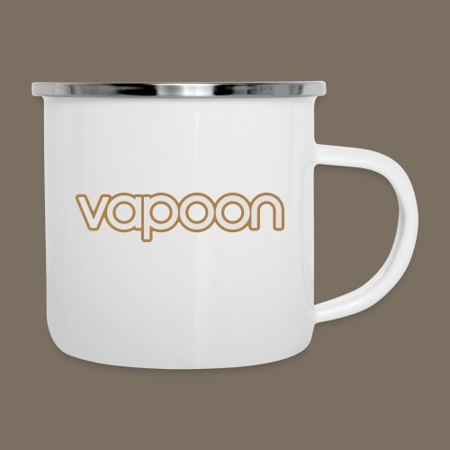 Vapoon Logo simpel 2 Farb - Emaille-Tasse