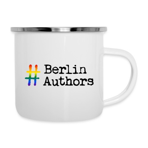 BerlinAuthors Logo Rainbow - Emaille-Tasse