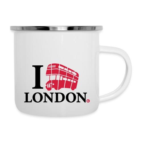 I love (Double-decker bus) London - Camper Mug