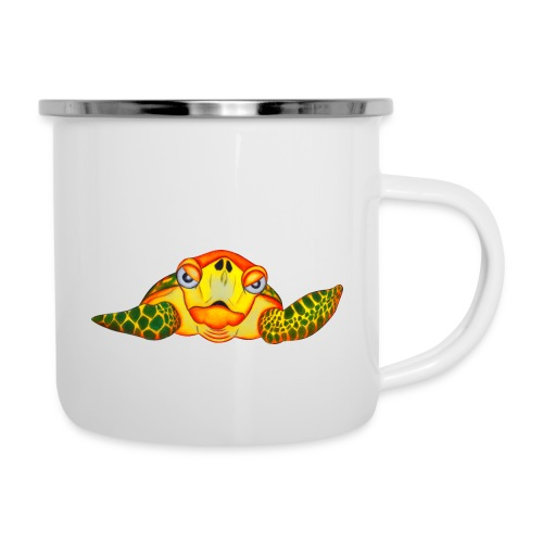 Angry Turtle Fluo - Tasse émaillée