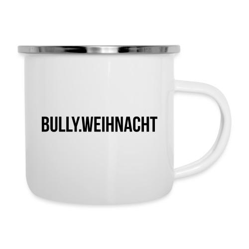 Französische Bulldogge Weihnachten - Geschenk - Emaille-Tasse