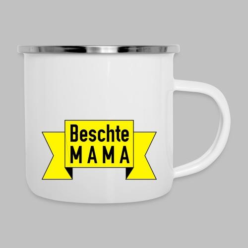 Beschte Mama - Auf Spruchband - Emaille-Tasse