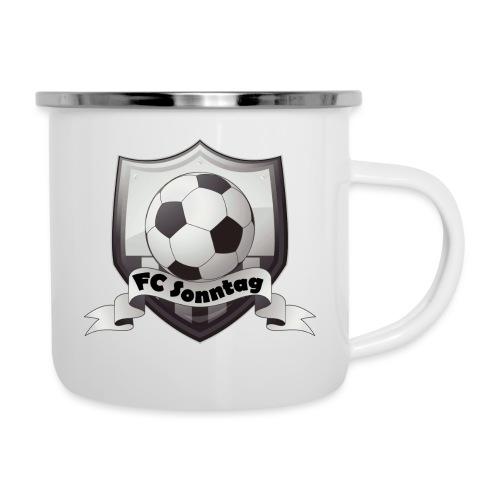 FC Sonntag Logo - Emaille-Tasse