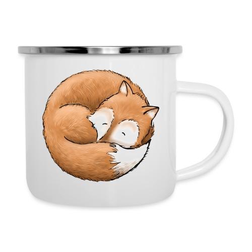 Der Fuchs macht ein Nickerchen - Emaille-Tasse