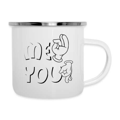 Me ok and you asshole - Emaille-Tasse