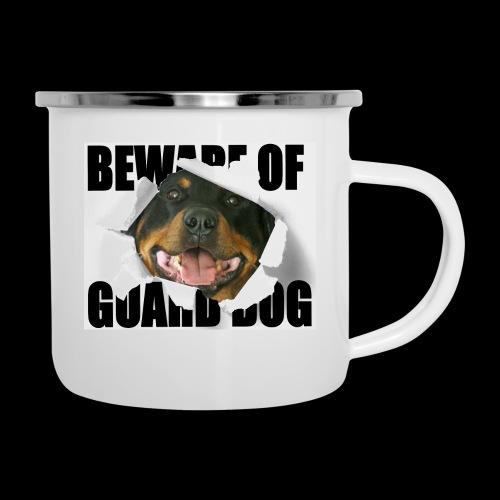 beware of guard dog - Camper Mug