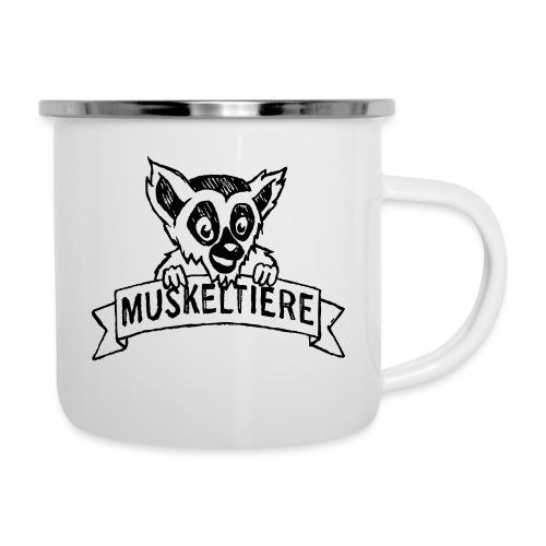 MUSKELTIERE_Logo_black - Emaille-Tasse