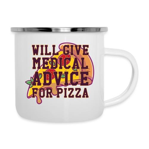Pizza II - Emaille-Tasse
