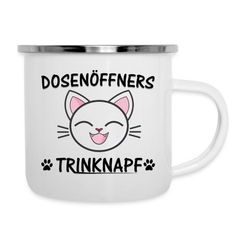 Dosenöffners Trinknapf Katze Geschenk - Emaille-Tasse