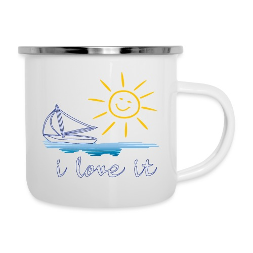 Segeln, Urlaub, Sommer - Emaille-Tasse