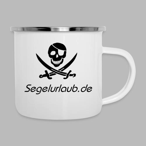 Piraten Flaggen Shirt Segelurlaub - Emaille-Tasse