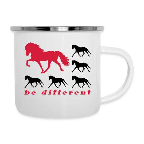 be different - Emaille-Tasse