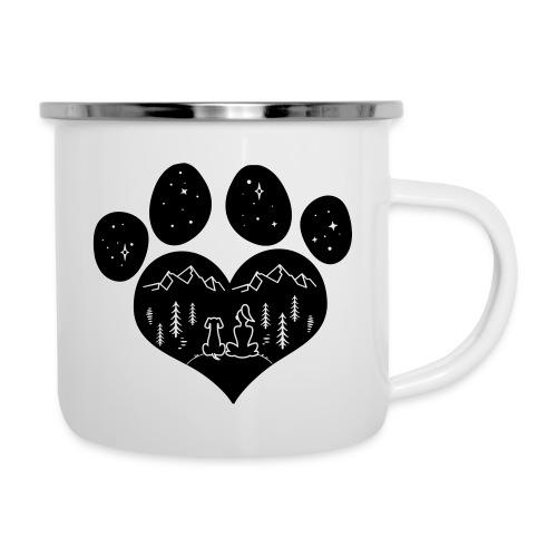 Vorschau: dog girl outdoor pawheart - Emaille-Tasse
