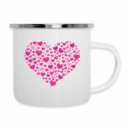 Herz aus Herzal - Emaille-Tasse
