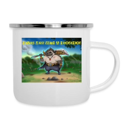 Never mess with a Hedgehog - Emaille-Tasse