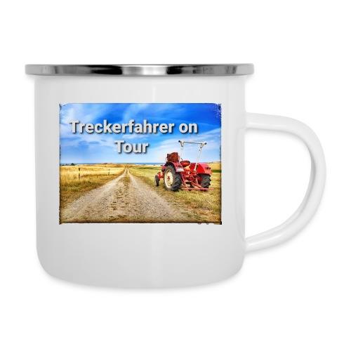 Treckerfahrer on Tour - Emaille-Tasse