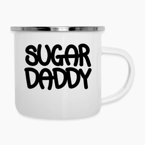 Sugar Daddy Zwart - Emaille mok