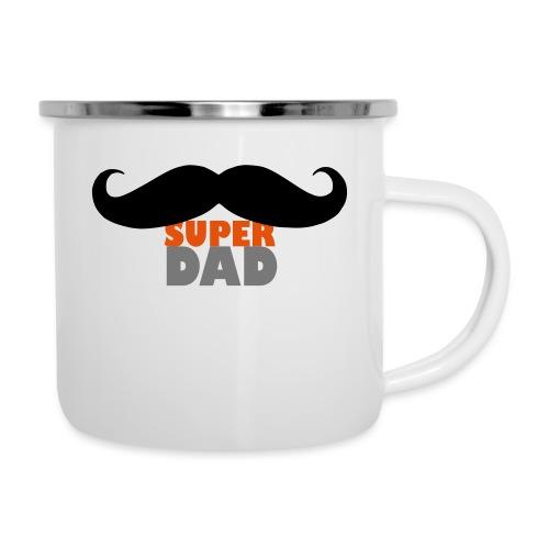 superdad moustache - Emaille-Tasse