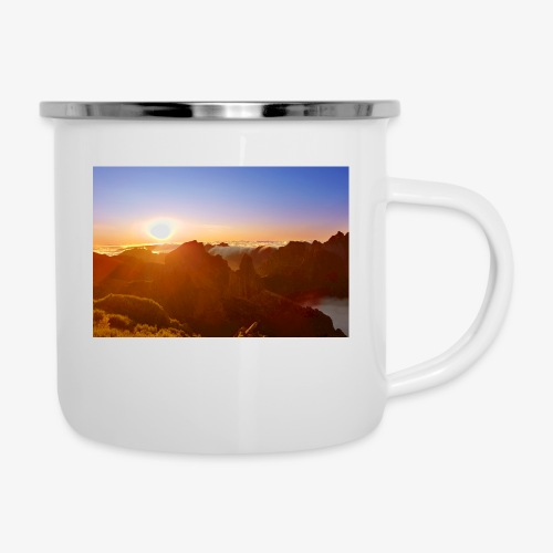Sunset - Emaille-Tasse