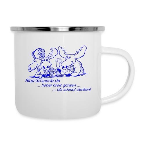 Stammtisch blau - Emaille-Tasse