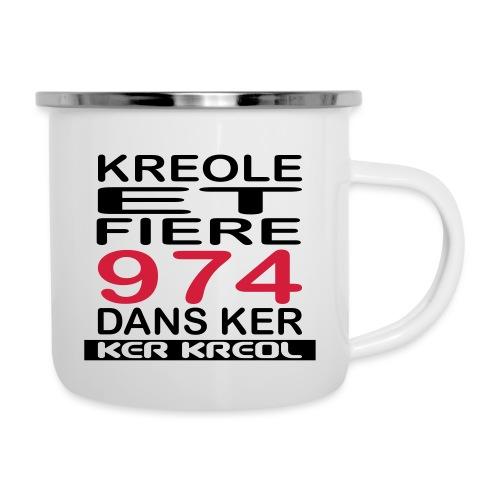 Kreole et Fiere - 974 ker kreol - Tasse émaillée