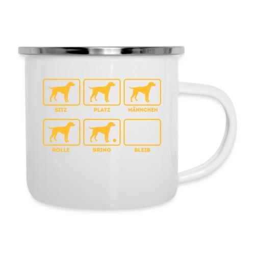 Für alle Hundebesitzer mit Humor - Emaille-Tasse