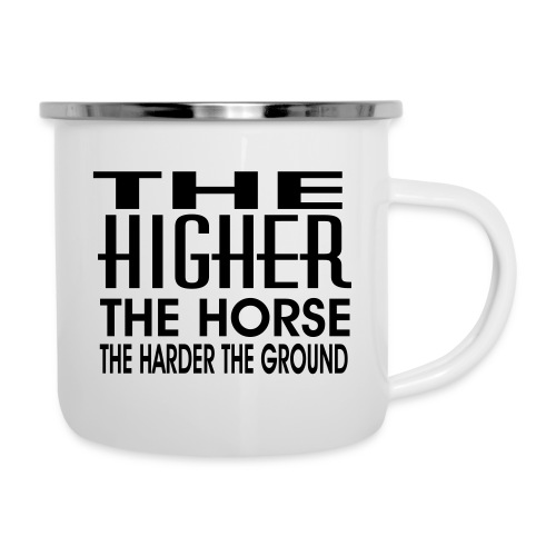 hoch2 - Emaille-Tasse