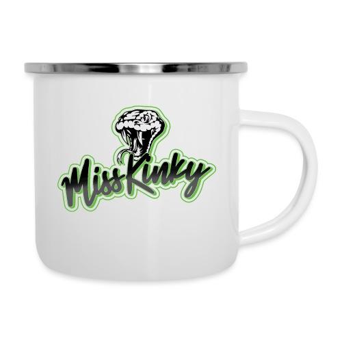 Logo Miss Kinky vert - Tasse émaillée