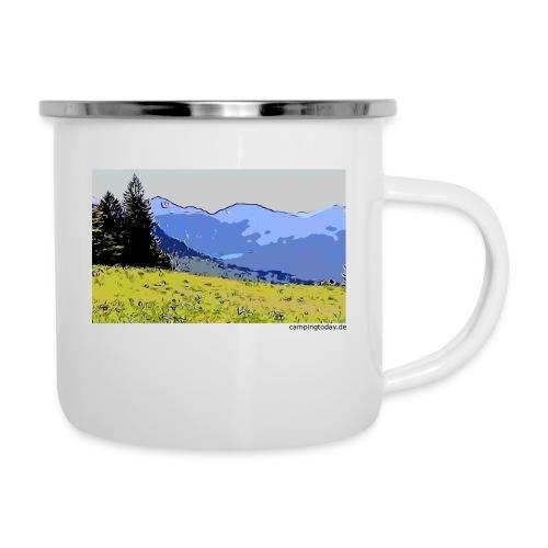 Berge künstlerisch - Emaille-Tasse