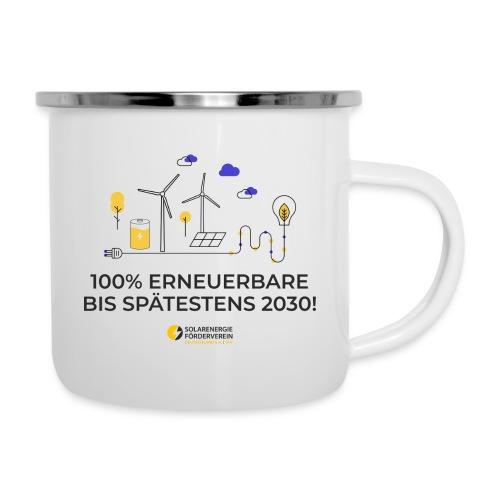 100% Erneuerbare 2030 - Emaille-Tasse