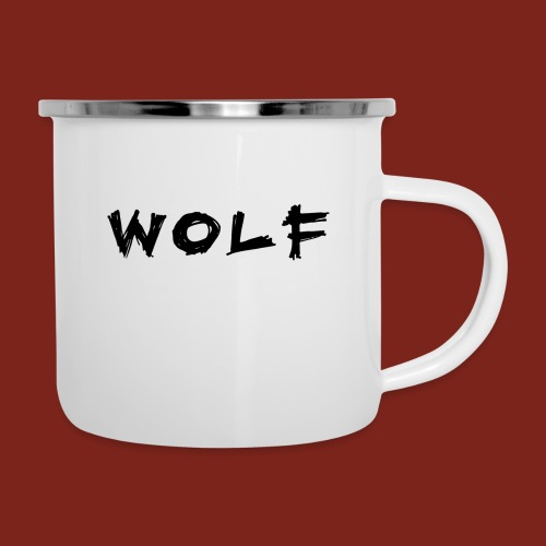 Wolf Font png - Emaille mok
