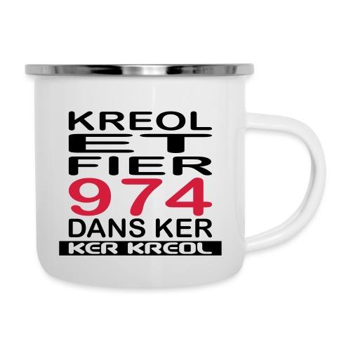Kreol et Fier - 974 ker kreol - Tasse émaillée